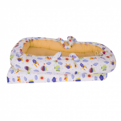 SEV_273-05_10 Co-sleeper anti-reflux Yellow Space SeviBebe Multicolor